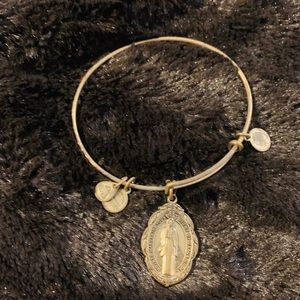 Alex and ani mother Mary gold tone bracelet
